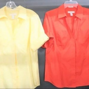 ❤️ Two Chico's Button Up Tops Size 1